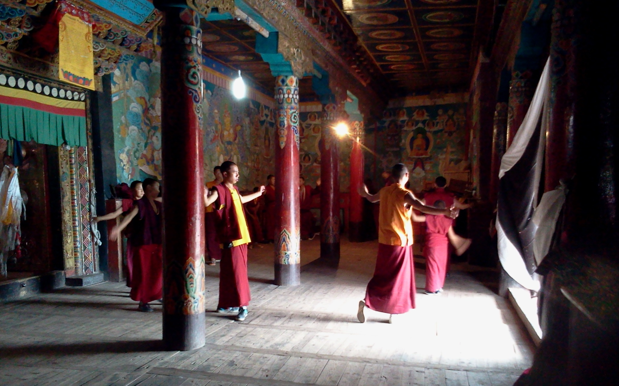 Tagong Monastery monks dancing