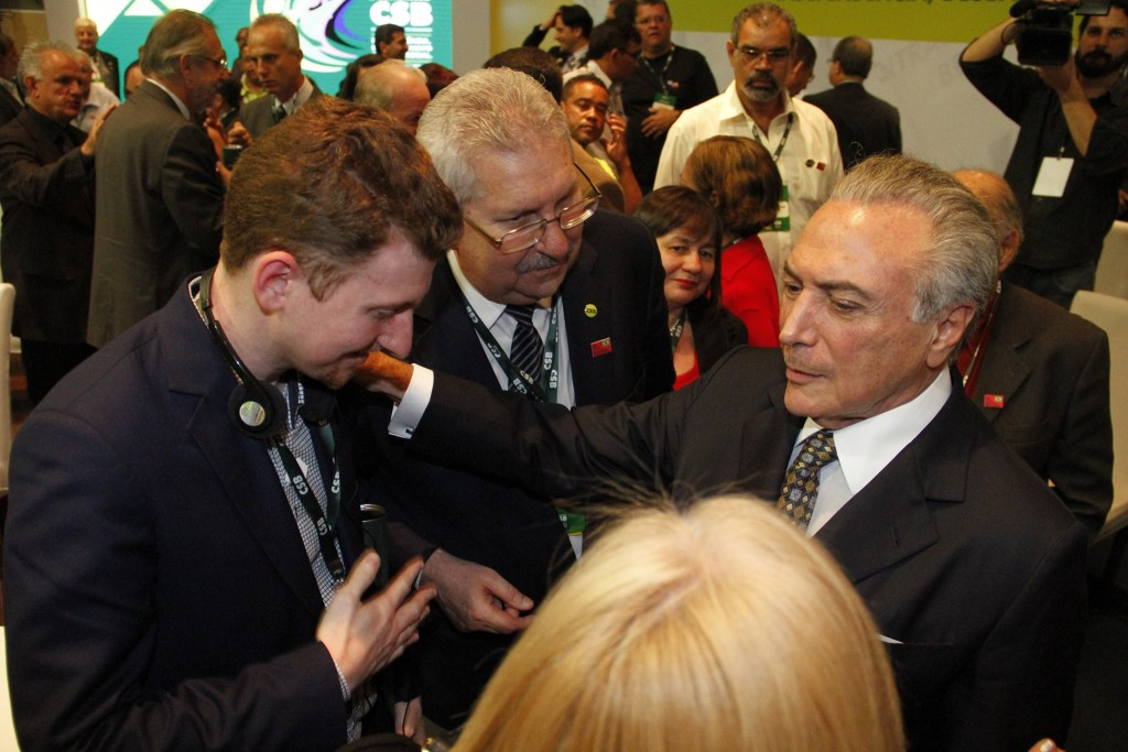 Caleb Maupin with Vice-President of Brazil