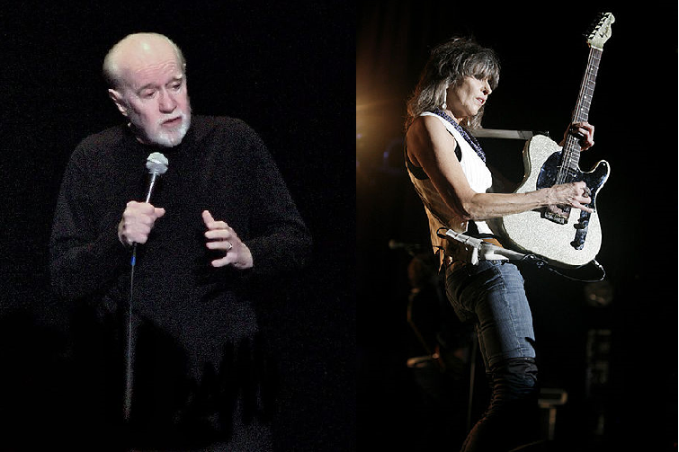 George Carlin and Chrissie Hynde montage wikipedia.org