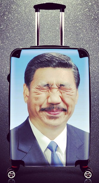 Xi Jinping with moustache