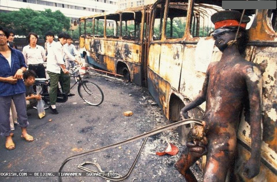 tiananmen__square PLA soldiers burned and hung