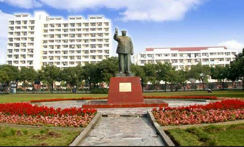 Shanghai public university stature of Mao