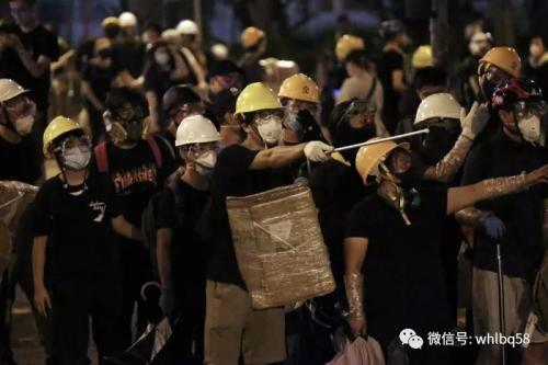 The West's very organized, so called peaceful protesters in action in HK (1)